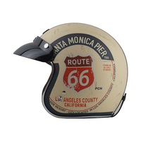 TORC T50 Vintage Motorcycle Helmet 3/4 Open Face Retro Scooter Helmets With Sunny Peak casco moto casque