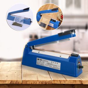 8 Speeds Automatic Heat Sealing Food Sealer Packaging Machine Film Sealer Packer Manual Hand Impulse Sealer Plastic Bag Sealing