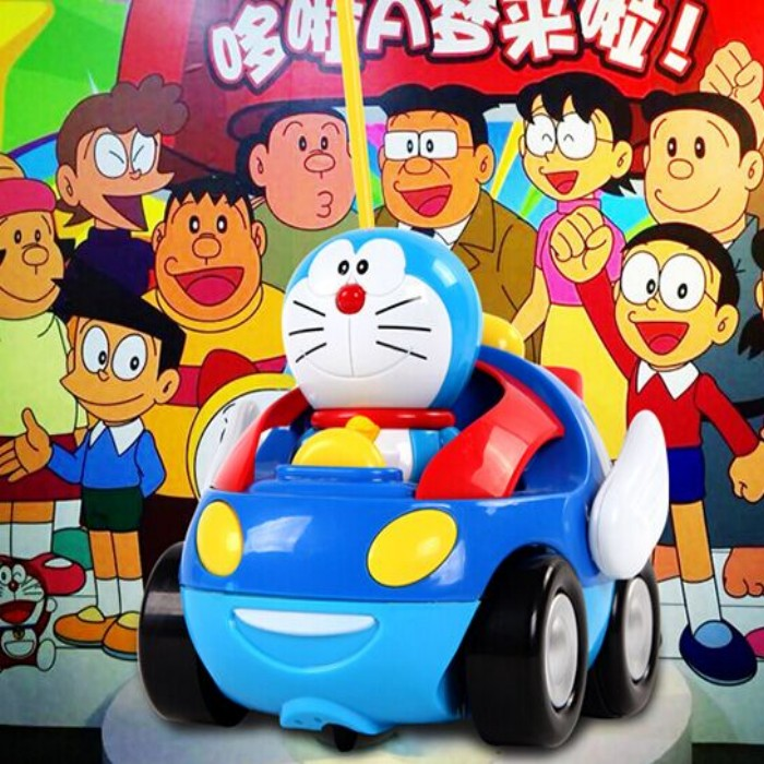 mini doreamen cat cartoon rc car baby best gift abs best material kids toys with remote