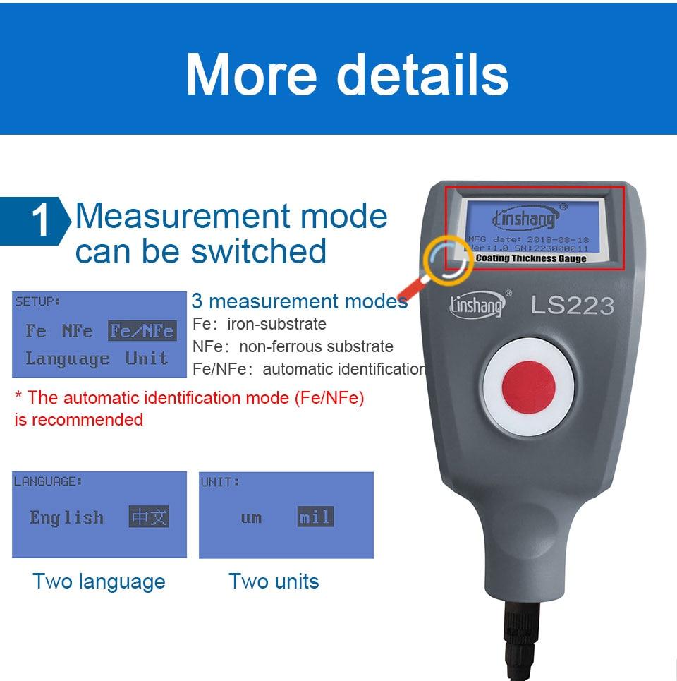 Revestimento medidor de espessura com F5N3 destacável