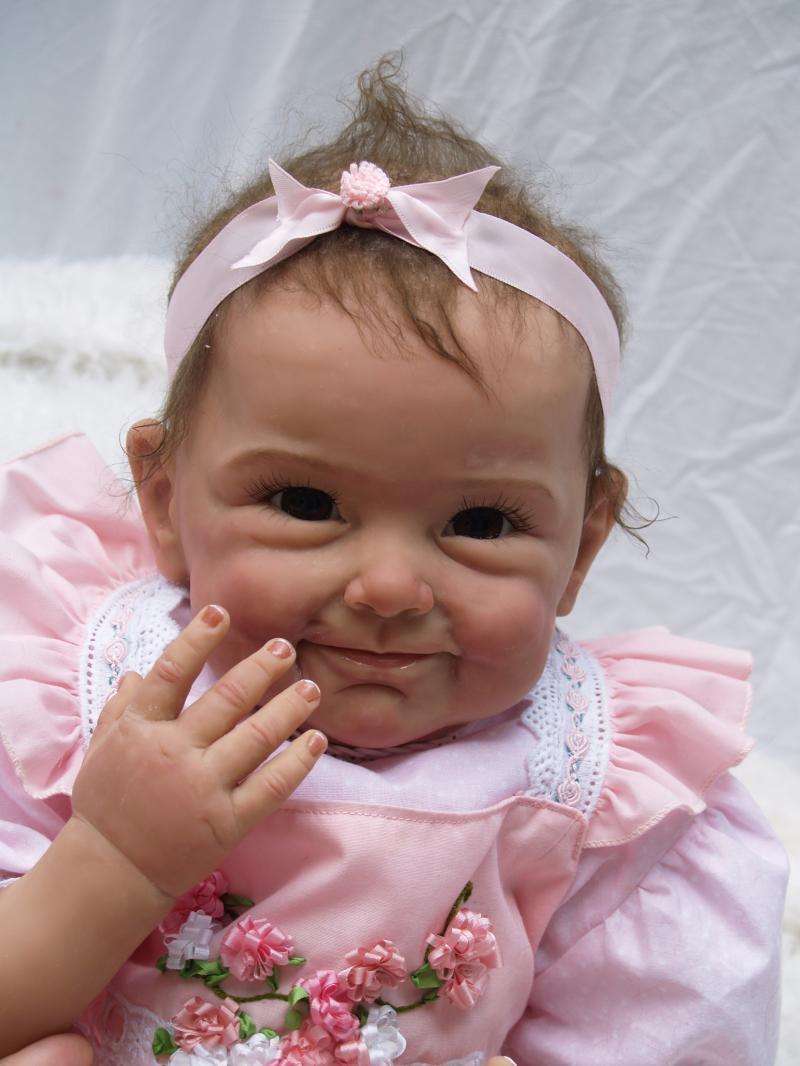 22 inch / 55 cm NPK Lembut Silicone Reborn Bayi Boneka Bayi Perempuan Hadiah Penuh Vinyl Reborn Bayi Boneka Pendidikan Bonecas