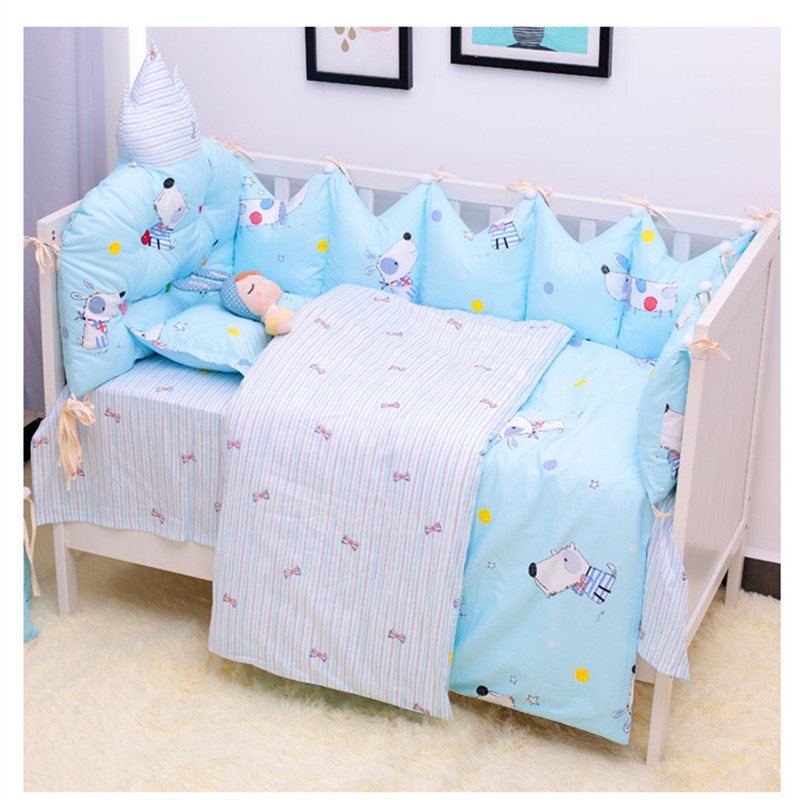 Creative Cute Baby Crib Bedding Set Cloud Shaped Cot Bumpers Washable Newborns Baby Bed Linens 7pcs/set Soft Infant Bedding SuitCreative Cute Baby Crib Bedding Set Cloud Shaped Cot Bumpers Washable Newborns Baby Bed Linens 7pcs/set Soft Infant Bedding Suit