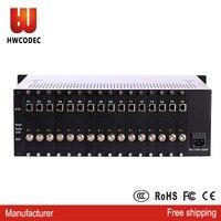 HWCODEC rtmp 16 channel SDI full 1080P hd encoder iptv h.264 sdi to ip streaming cable tv digital video iptv encoder h264