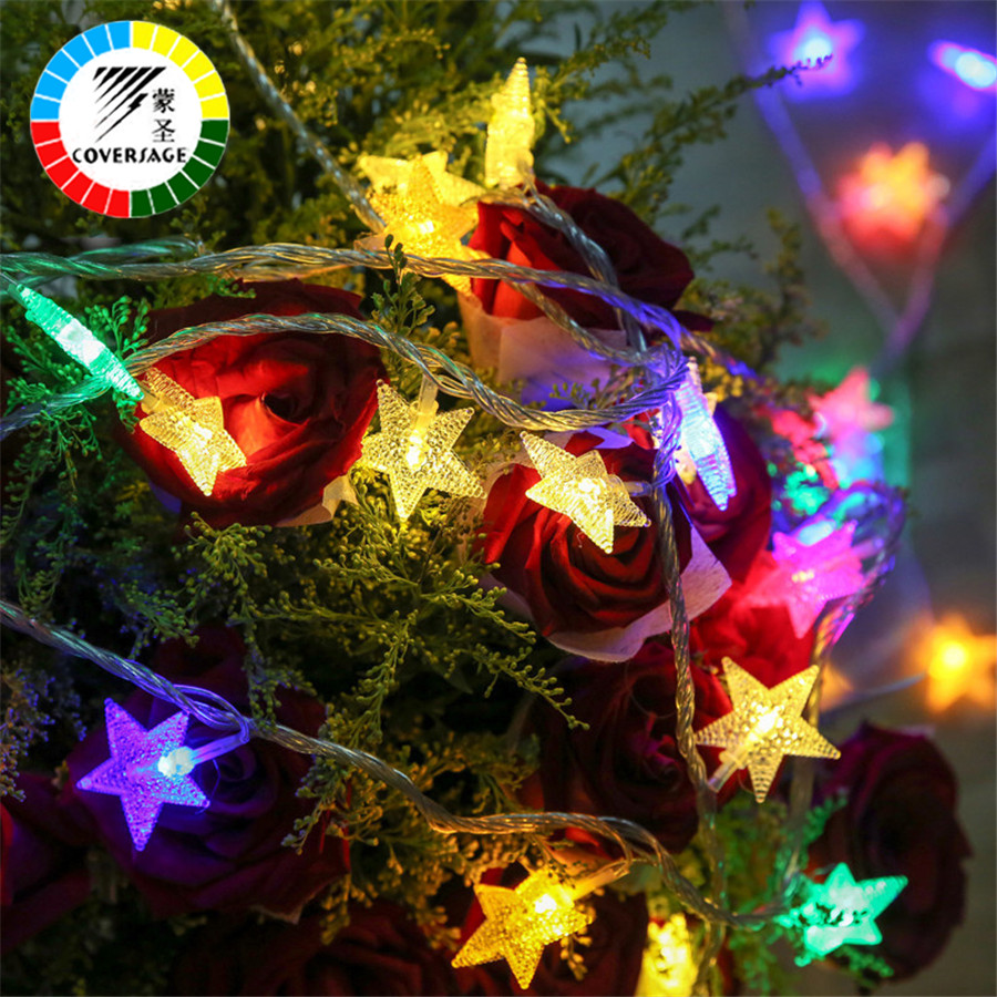 Coversage 100Leds 10M Christmas Outdoor Fairy String Lights Garden Luces Led Navidad Indoor Curtain String Decorative Lights