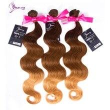 Kunna Hair 1 Bundles ProductsOmbre Brazilian Virgin Hair Body Wave Ombre Brazilian Weave 7A Ombre Virgin Hair Extension