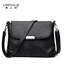 Lirenniao бренд Для женщин Курьерские сумки маленький черные туфли высокого качества кожа сумка блестками Мягкие Сумки Женщина Кроссбоди Мешок