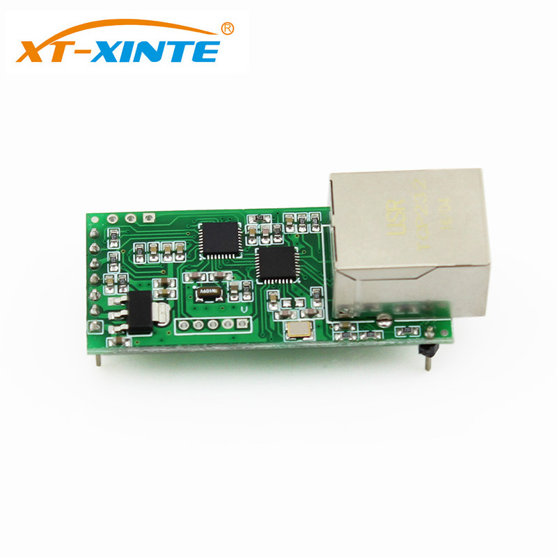 USR-TCP232-T2 Tiny Serial Ethernet Converter Module Serial UART TTL To Ethernet TCPIP Module Support DHCP And DNS