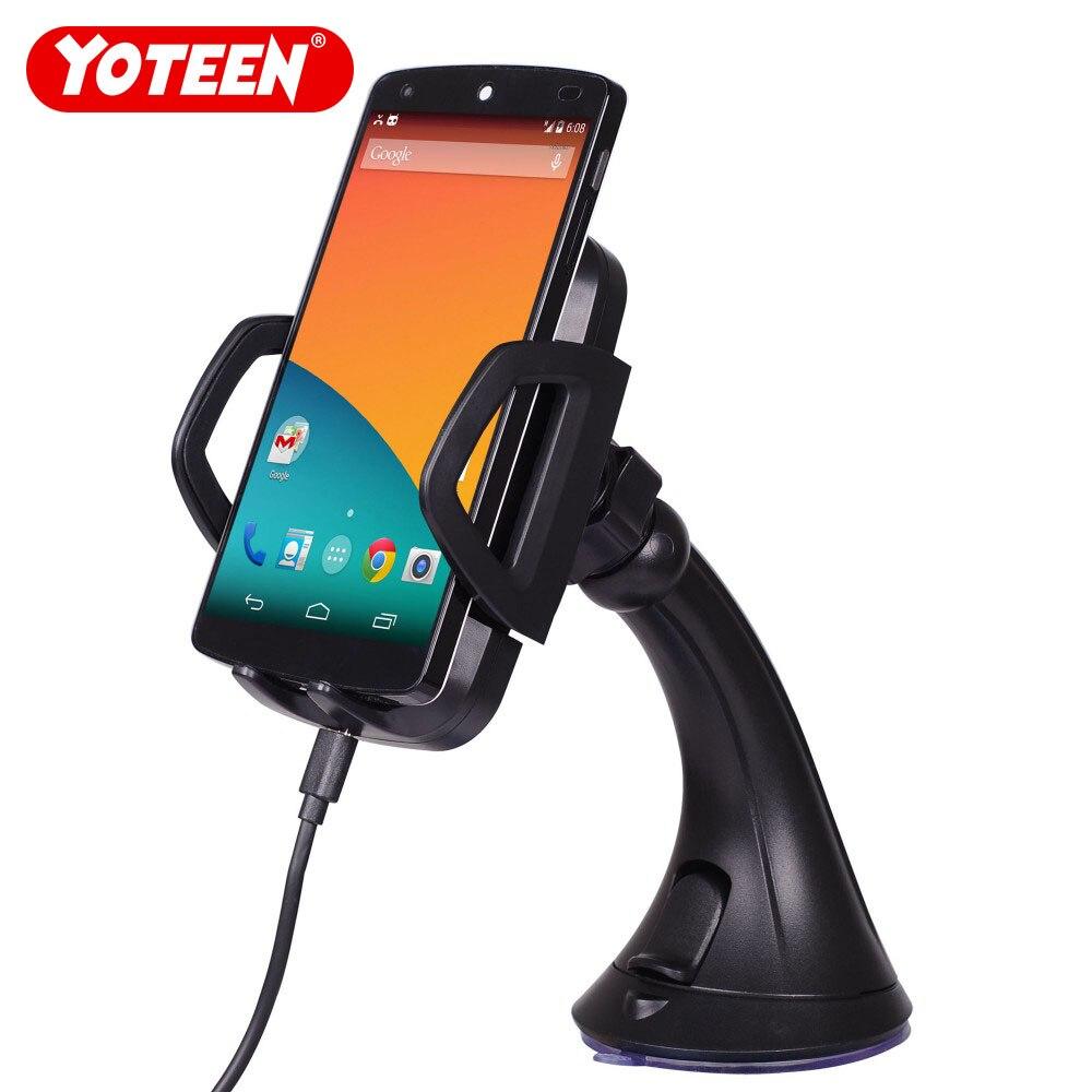Yoteen chargeur de voiture sans fil pour iPhone X QI Standard chargement quai d'aspiration support de pare-brise titulaire de sortie de climatisation