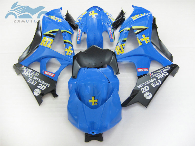Free Custom Fairing <font><b>kits</b></font> for <font><b>Suzuki</b></font> GSXR 1000 2007 2008 <font><b>GSXR1000</b></font> K7 <font><b>K8</b></font> motorcycle street fairings <font><b>kit</b></font> 07 08 blue RIZLA+ GS26 image