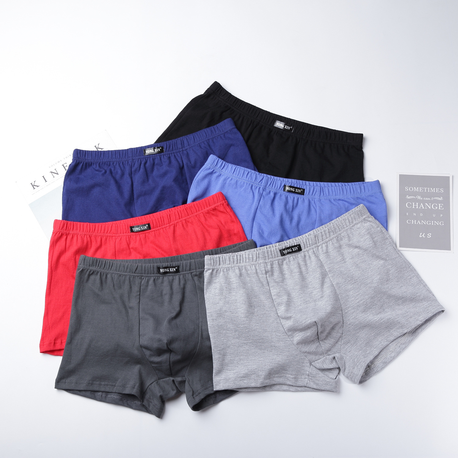 Hot Underpants 100% Cotton Quality Men's Male Underwear Classic Solid Fashion Pouch Trunks Short Boxers 4PCS Free Shipping
