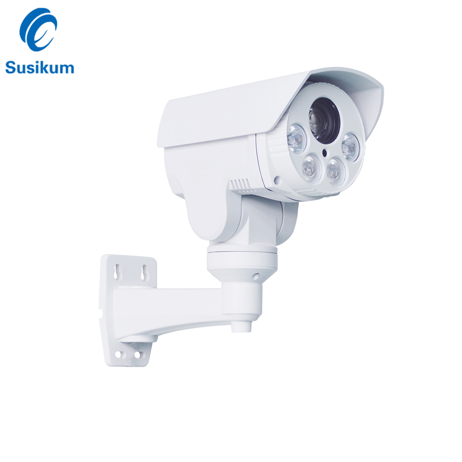 5MP 10X Optical Zoom PTZ POE IP Camera Outdoor Waterproof Night Vision IR 80M Bullet Surveillance Security PTZ Camera ONVIF image