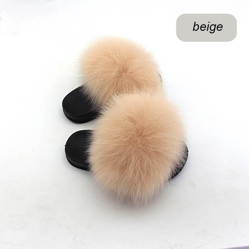 children slippers fox fur (3)