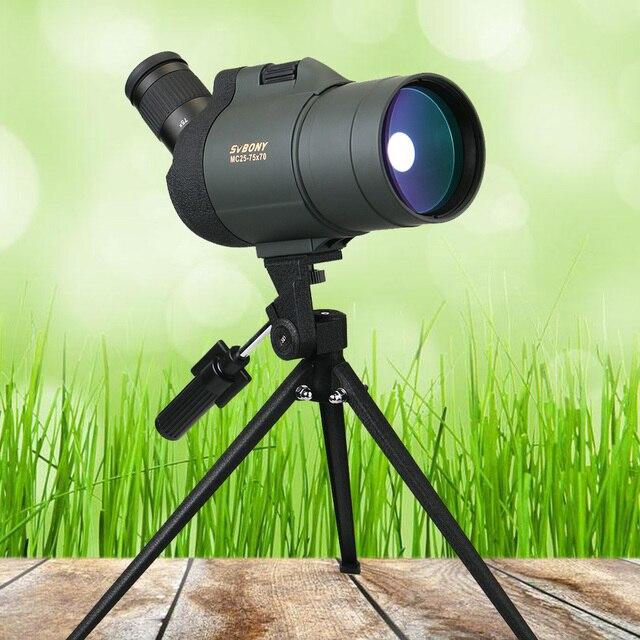SVBONY SV41 25-75x70 Spotting Scope Telescope Refraction Monocular Binoculars Hunting Optics BAK4 Prism Long Range Waterproof 4