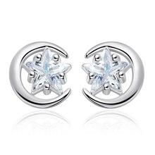 Opening Pentagram Star Stud Earrings Zircon Pentangle Star Punk Stud Earring Silver Color Earings For Women Jewelry pentangle pentangle solomon s seal