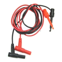 1Pair Banana Plug To Test Hook Clip Probe Cable For Multimeter