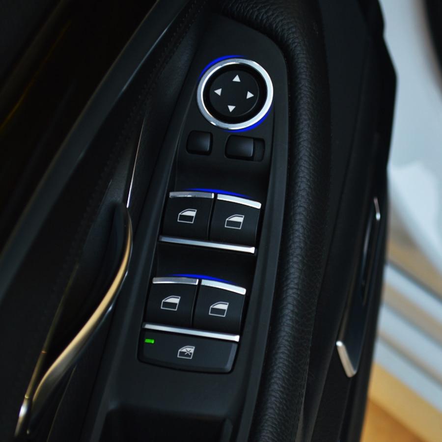 Hot Sale 8pcs Aluminium Alloy Window Button Cover Trim For Bmw F10 5