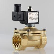 Válvula de água solenóide normalmente fechada, bobina totalmente fechada ip65, ac220v dc12v dc24v, g3/8