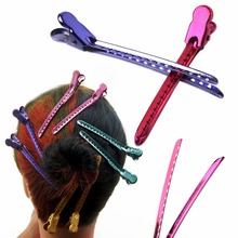 12Pcs/Set Metal Duck Mouth Hair Clips Hairdressing Salon Clamps Styling Tools
