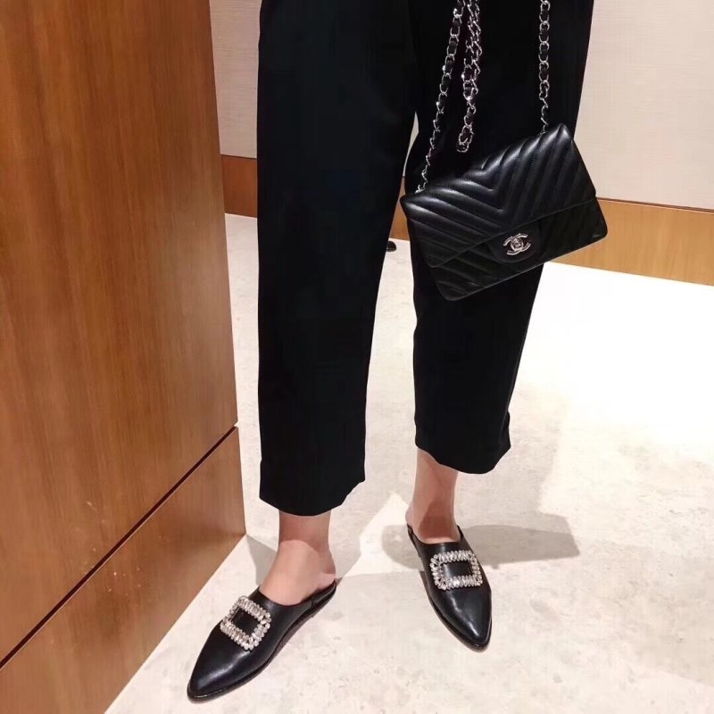 Paresseux Carré Boucle Mules Mujer Appartements Printemps Mocassins Femme Automne Slip Zapatos Sur Casual Pic Design As Bout as Hot Chaussures Pointu Pic Cristal z7OZOq