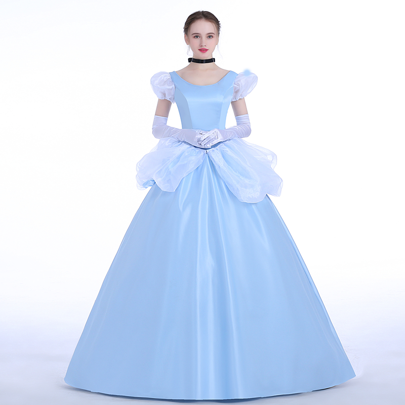 Cartoon Cinderella Cosplay Costume Fancy Cinderella Dress Carnival Halloween Costumes Classical Princess Dress Custom Made