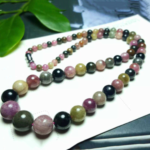 Image 2 - JoursNeige Natural Tourmaline Jewelry Sets Vintage Tower Beads Necklace 4 9mm Tower Beads Bracelet 9mm Multi Color for Women