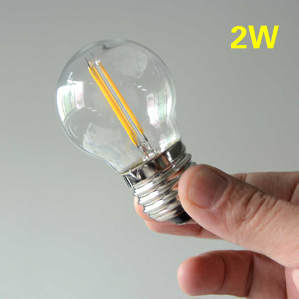 E27 затемнения светодио дный лампы AC 220 В 2 Вт 4 Вт 6 Вт 8 Вт Стекло Глобус лампы G45 A60 Античная мяч лампада luz Поддержка затемнение экрана переключатель 10 шт.