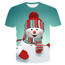 Newest Design T Shirt Men Cute snowman 3D print shirts Funny Sweethearts outfit T-Shirt Men/Women Summer  Fashion Tops Tees