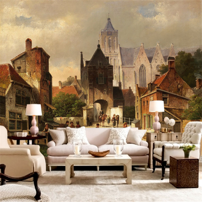 Vintage 3D Wallpapers Wall Murals Castle Photo Wallpapers Wallpapers For Living Room Background Wall Papers Home Decor Bedroom circle mirror photo wallpapers 3d modern abstract murals wall papers home decor wallpapers for living room wall paste wall mural