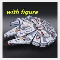 05007 Star Series Wars 1381pcs Millennium Falcon Toys Building Blocks Bricks Marvel Educational Toys Children Gifts