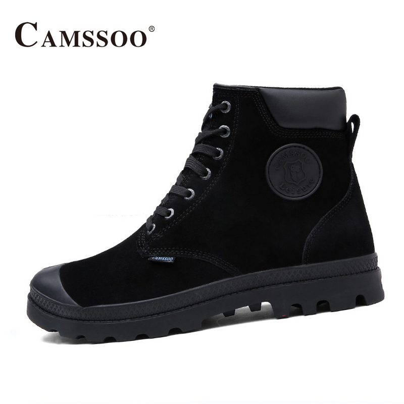 2017 Camssoo New Hiking Shoes Men High To Help  Men Climbing Mountain Boots Warm Outdoor Shoes B2837