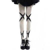 New Lolita Tights Stocking Lace Printing Bow Harajuku Long Stocks Cute Anime Cosplay Costumes 3D Printed