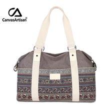 Canvasartisan top qualité femmes de vintage style hangbags fourre-tout multifonctionnel voyage bagages à main grand capacticy épaule sacs