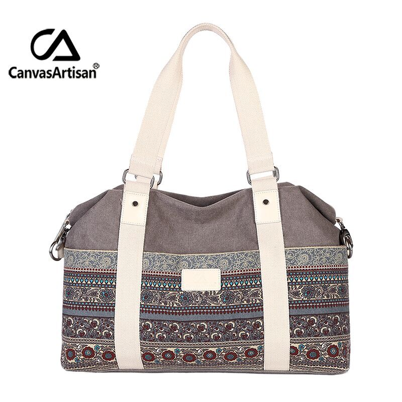 Canvasartisan women's vintage style hangbags tote multifunctional canvas bag tra