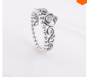 Princess Crown Ring With Clear Cubic Silver Ring 1