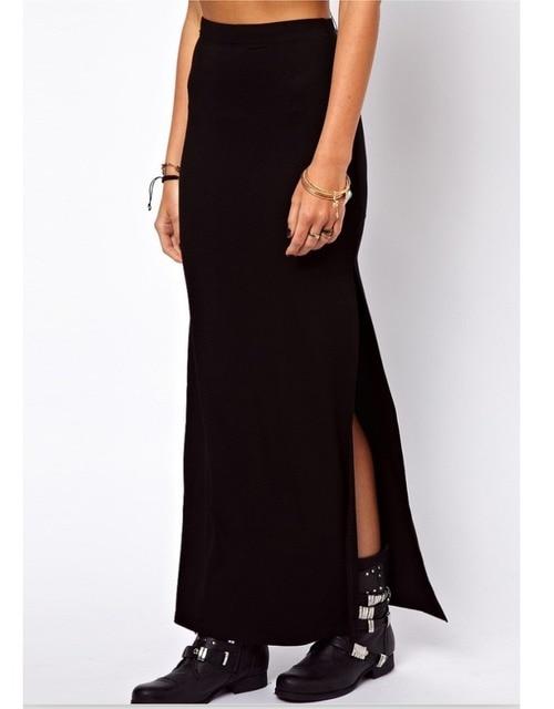 Black Ankle Length Skirt