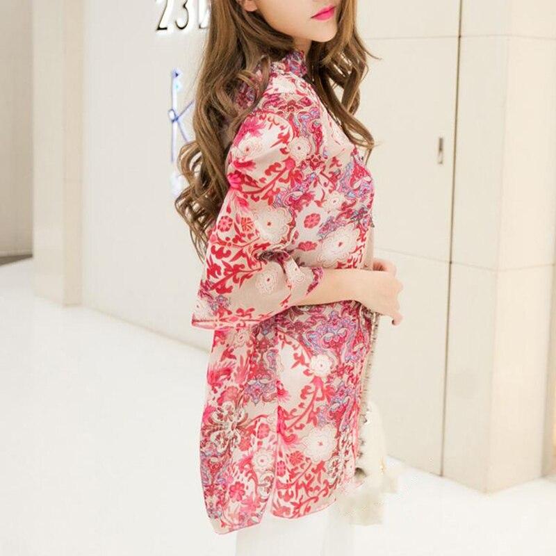 2018 camisa de las mujeres del verano del estilo de la blusa de moda - Ropa de mujer - foto 4