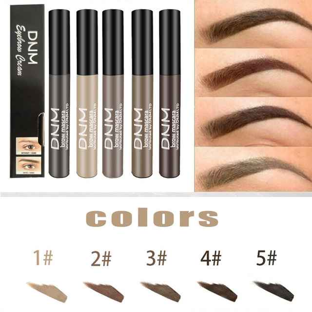 Waterproof Long Lasting Henna Eyebrow Gel Paint 5 Color Natural Black Brown Brow Enhancers Liquid Eyebrow Tint Makeup Cheap 2019 3