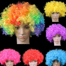 Colorful Clown Wig fans Explosive Head Wig Dance Bar Wedding Birthday Party Dress Performance Props Wig Halloween Grand Event(China)