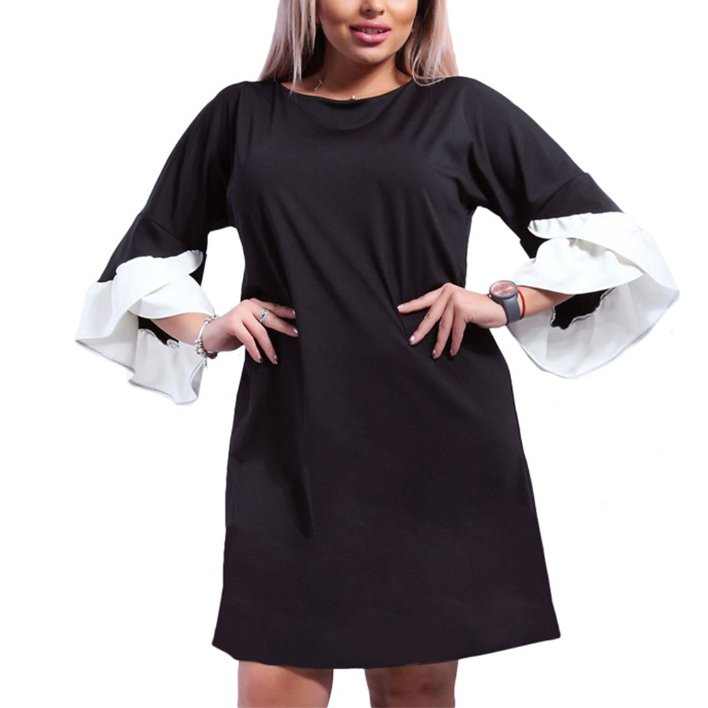 aec1393fcb2fc 5xl 6xl Plus Size Dress 2018 Spring Vintage Vestido De Festa 3/4 Butterfly  Sleeve Clothing Big Size ...