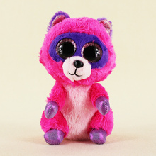 15cm Ty Beanie Boos Big Eyes Plush Toy Doll Small Raccoon Baby Kids Gift Free Shipping