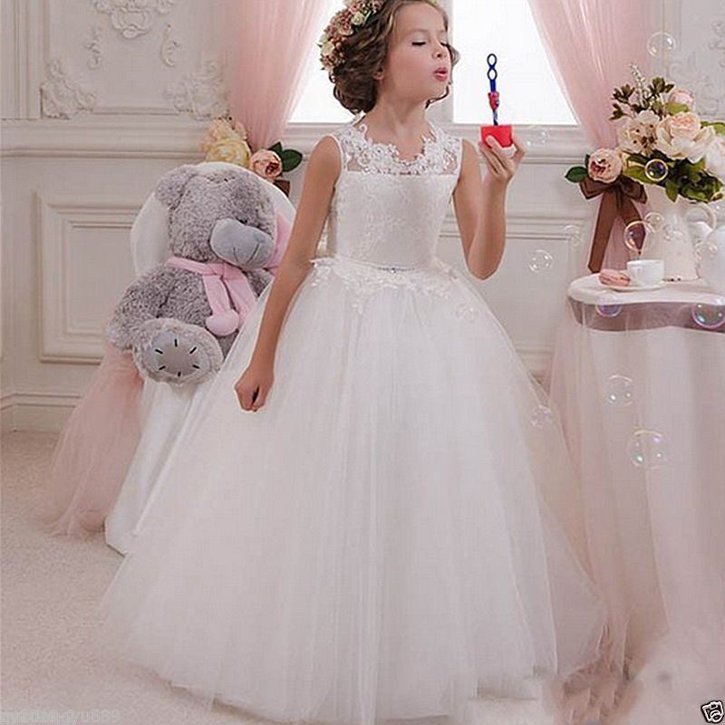 NEW Communion Party Prom Princess baby dress Pageant Bridesmaid Wedding Flower Girl Dress xx girl communion party prom princess pageant bridesmaid wedding flower girl dress new dress