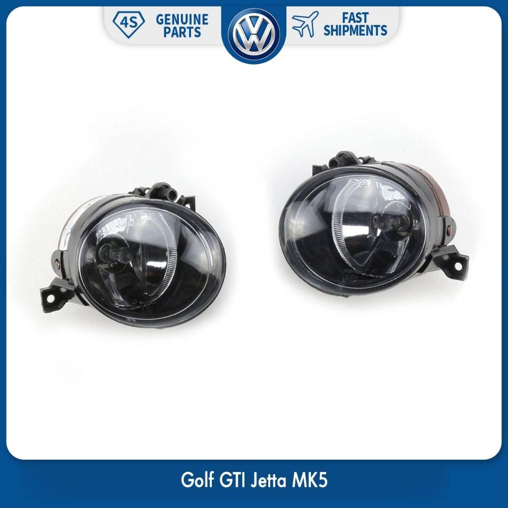 Pair Front Bumper Convex Lens Driving Lamp Fog Light left Right Side for VW Volkswagen Golf GTI Jetta MK5 1T0 941 699 C 700 C 1pcs oem fog light driving lamp left side for porsche cayenne 2008 2010