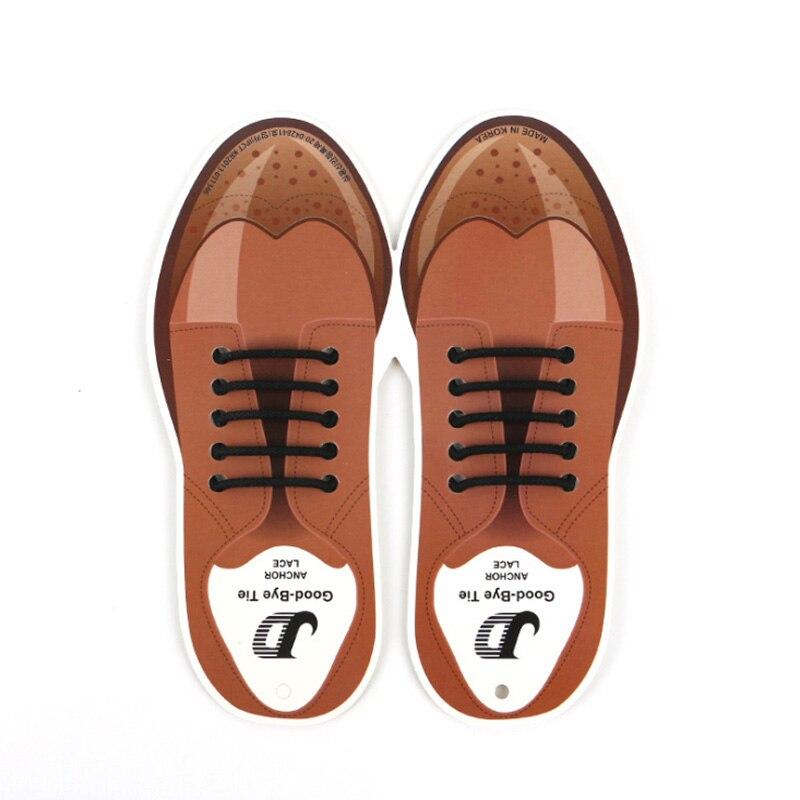10pcs/lot Silicone Shoelaces For Leather Shoes Special Shoelace No Tie Shoe Laces For Men Business Lacing Shoes Rubber Shoelace