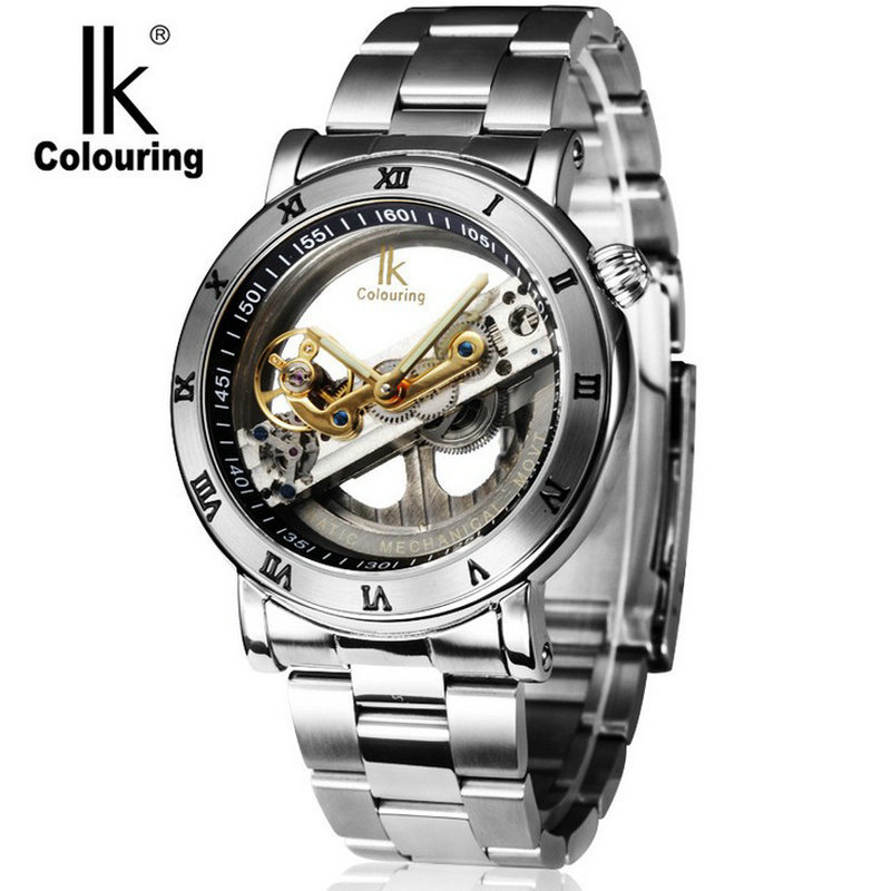 Best automatic mechanical men famous brand steel strip men s male waterproof watch luxury man Stainless
