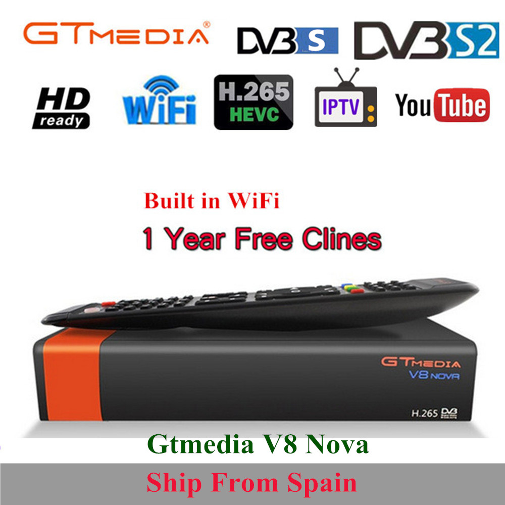 GTMedia V8 Nova Full HD DVB S2 Satellite Receiver 1 Year Europe Cccam 7 line Same Freesat V9 Super Upgrade From Freesat V8 Super-in Satellite TV Receiver from Consumer Electronics