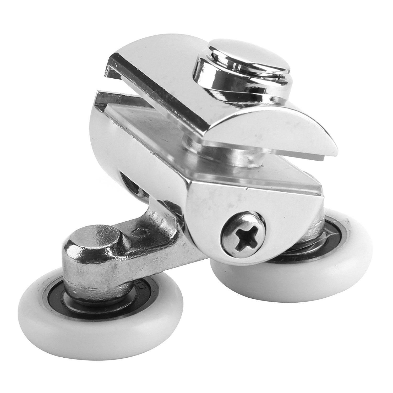 Shower Door Wheels 23mm Shower Door Rollers 4pcs (2 Top+2 Buttom)