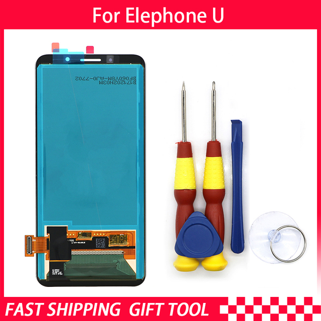 新しいオリジナルタッチスクリーンlcdディスプレイ液晶画面elephone u uポル交換部品 + 逆アセンブルツール