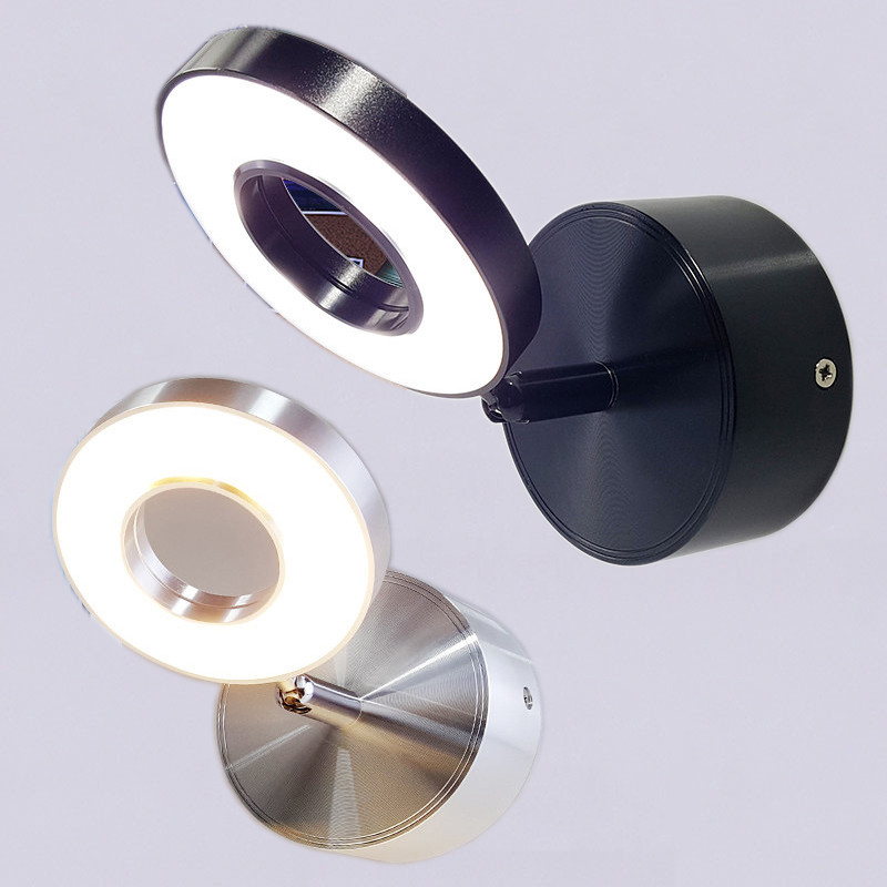 5W Wall Light bedroom with switch in LED Selfie Ring Light Indoor wall Lapms For Makeup Home Hotel Bedside Reading Book Lights