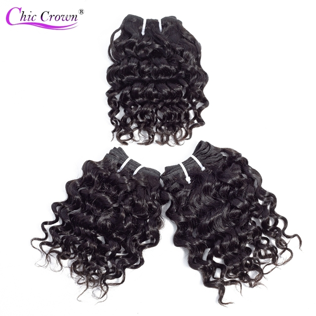 【BULK BUY】 100% Human Hair Bundles 3 Pieces/Lot Double Weft Remy Brazilian Hair Kinky Curly  6PCS Can Make A Wig For Black Women
