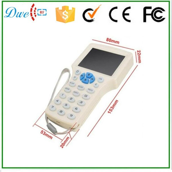 DWE CC RF online retail store rfid access control 13.56mhz card copy machine for key duplicate dwe cc rf 2017 hot sell 13 56mhz 12v wg 26 rfid outdoor tag reader for security access control system